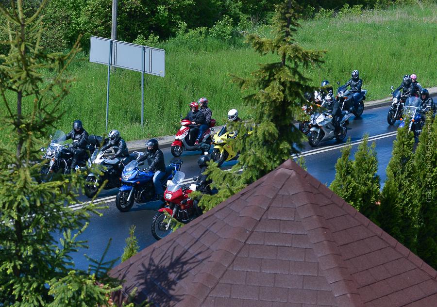 Zlot motocyklowy 2014-widok z okna