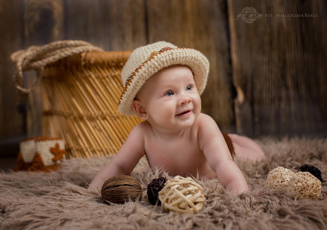 Wiktoria - sesja niemowlęca gra-fart-.eu   fot. Małgorzata Barul